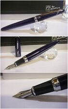 Stylo Picasso MALAGA blue Fountain Pen - Stilografica NIb France steel siz F