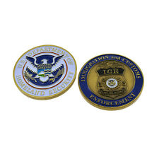DHS ICE Challenge Coin Special Agent Federal Police Badge Immigration Customs