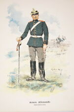 ARMEE ALLEMANDE FELD ARTILLERIE GRAVURE COULEURS MARIUS ROY 1890-R902