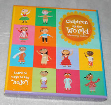 Children of the World Family Memory Game 36 Ways to Say Hello Barefoot Books