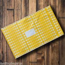 """25 Yellow Polka Dots 13"""" x 19"""" Mailing Postage Postal Mail Bags"""