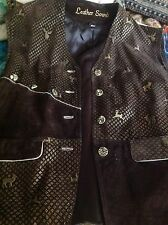 Traditional Women's bavarian hunters vest, leather