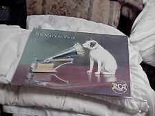 NIPPER DOG RCA VICTOR VICTROLA ADVERTISING METAL SIGN HIS MASTERS VOICE REPR.