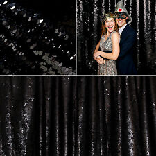 3M X 1.6M Sparkly Black Sequin Tablecloth Blinking Table Backdrop Wedding Decora