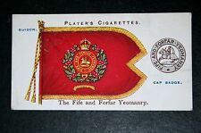 Fife and Forfar Yeomanry   Regimental Colours  1910  Vintage Picture Card