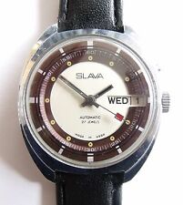 "VINTAGE ""SLAVA""- 27jew-AUTOMATIC-DATA OLD USSR WRIST WATCH"