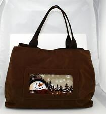"""*New* LEE """"Nylon Tote Bag"""" Brown Purse BAG55 for handpainted Needlepoint Canvas"""