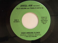 Ollie Budlong (signed 45) CIGAR SMOKING BLONDE / WITHIN LOVE ~ VG++