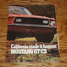 1968 Ford Mustang California Special Sales Brochure 68 GT/CS