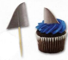 50 Ocean Surf SHARK FIN cupcake food PICKS Beach Party Novelty Supply Decoration