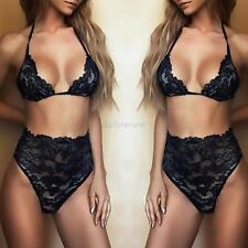 Women Ladies Sexy Lace Bikini Set Bra Underwear Girl Babydoll Lingerie Sleepwear