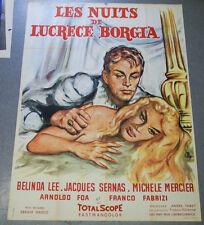 Affiche de cinéma : LES NUITS DE LUCRECE BORGIA de Sergio GRIECO
