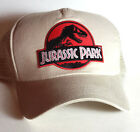 Jurassic Park Red Logo Baseball/Trucker Cap/Hat-TAN Cap-FREE S&H(JPHA-Red/Tan)
