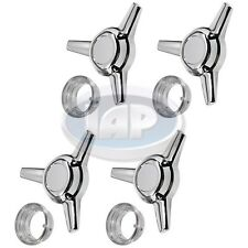 VW BUG GHIA CHROME WHEEL KNOCK OFFS SET OF 4 AC601741