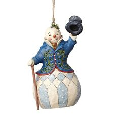 Jim Shore Heartwood Creek Victorian Snowman  Christmas  Hanging Ornament