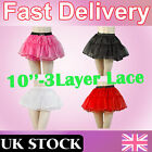 "Fashion 10"" Retro Underskirt 50s Swing Fancy Tutu Skirt Net Petticoat Rockabilly"