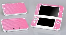 Pink Carbon Fiber Vinyl Decal Cover Skin Sticker for Nintendo 3DS XL/LL