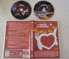 2 DVD LA CARAVANE DES ENFOIRES 2007 GOLDMAN ZAZIE BRUEL CARLA BRUNI