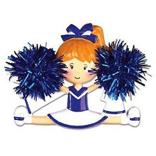Cheerleader Blue Personalized Christmas Tree Ornament X-mass Noel Sports Girl