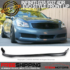 07-08 Fit For Infiniti G35 2009 G37 Sedan 4Dr EVO Poly Urethane Front Bumper Lip