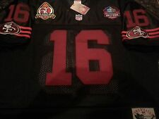 BRAND NEW SAN FRANCISCO 49ERS #16 JOE MONTANA THROWBACK DUAL PATCH JERSEY 2X MEN