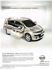 PUBLICITE ADVERTISING 095  2007  NISSAN   le nouveau NOTE