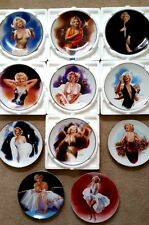 11 MARILYN MONROE DELPHI DECORATIVE PLATES BRADFORD EXCHANGE WITH CO/BOXES