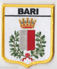 BARI CREST FLAG ITALY WORLD EMBROIDERED PATCH BADGE