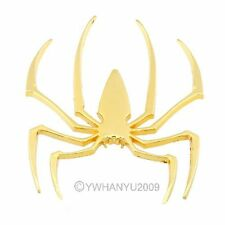 Metal Spider Car Bike Spider Logo Decal Sticker Emblem Badge 3D Golden  21090