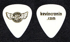 REO Speedwagon Kevin Cronin White Guitar Pick - 2012 Tour