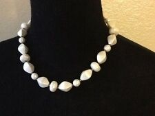 Vintage Necklace Nice White Geometrically Inspired Plastic Beads