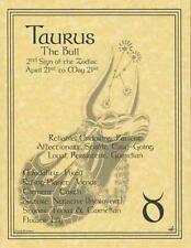 Taurus (Zodiac) Parchment Page for Book of Shadows!  pagan wicca witch