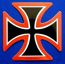 IRON CROSS red/black/white New Vinyl STICKER *Free Shipping* decal military punk