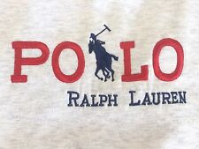 Vtg Polo Ralph Lauren Gray Spellout Sweatshirt XL Pony Made In USA