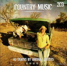 COUNTRY MUSIC - 40 TRACKS BY ORIGINAL ARTISTS  (NEW SEALED 2CD)