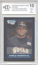 PABLO SANDOVAL Red Sox 2006 Bowman Chrome Draft rookie BGS BCCG 10 MINT !!