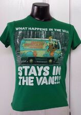 """Scooby-Doo Mystery Machine """"What Happens In The Van Stays In"""" Green T-Shirt S"""