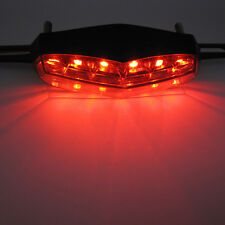 Motorcycle Quad Scooter Number License Plate Rear Brake Running Tail Light 6 LED