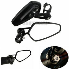 "Universal Black Motorcycle Billet Aluminum 7/8"" Bar End Side Rearview Mirrors"