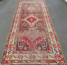 EARLY 20TH CENTURY ANTIQUE COUNTRY HOUSE CAUCASIAN KAZAK AKSTAFA LONG RUG