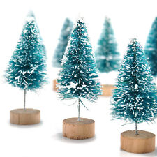 12x Xmas Tree Snow Frost Party Ornaments Mini Sisal Bottle Brush Christmas Decor