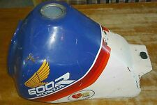 Used Honda 87 XL 600 R Fuel Gas Tank White/Red/Blue