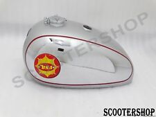 BSA GOLD STAR SILVER PAINTED CHROME PETROL TANK +BADGE+CAP+TAP+BREATHER PIPE