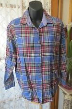 VINTAGE  90'S ~ JUST Jeans ~ Tartan ~ BLOUSE/TOP * Size S-M * SALE !!!!