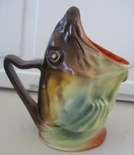 Unusual Royal Bayreuth Fish Creamer or Milk Pitcher ~ Advertising Marblehead