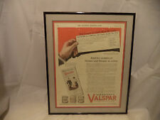 1925 Ad Valentine Valspar  In 12 Colors Woman Paint