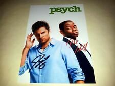 "PSYCH CAST X2 PP SIGNED 12""X8"" INCH POSTER JAMES RODAY DULE HILL"