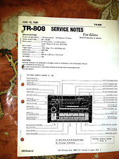 ROLAND TR-808 TR808 REPAIR / SERVICE MANUAL /Book only