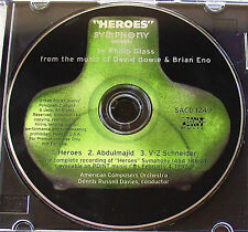 HEROES SYMPHONY ~ PHILIP GLASS ~ DAVID BOWIE ~ BRIAN ENO ~ PROMO SAMPLER CD