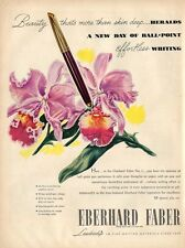 1946 Eberhard Faber No. Ball-Point Pen Orchids PRINT AD